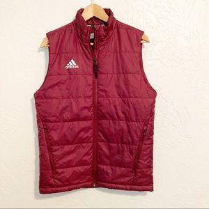Adidas maroon Puffer Vest Size XS
